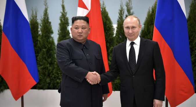 Kim Jong Un, Vladimir Putin meet in Vladivostok for first summit