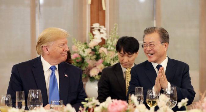 Trump arrives in Seoul for two-day summit with Moon, possible DMZ meeting with Kim