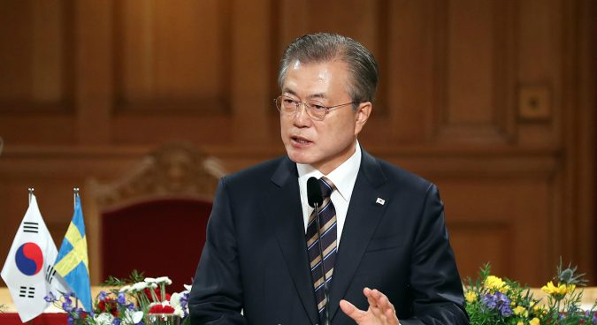 """Substantially"" demonstrate commitment to denuclearization, Moon urges North Korea"