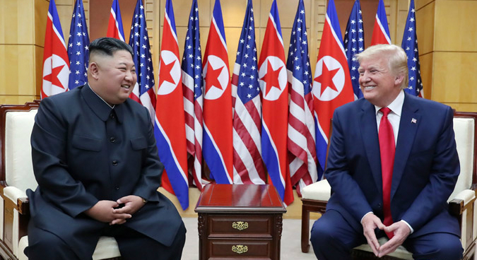 "North Korean media hails ""historic"" Kim-Trump meeting at Panmunjom"