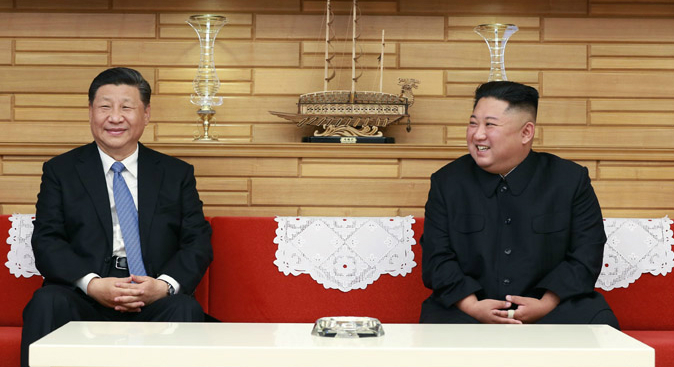 """Kim, Xi agree to boost ties amid """"grave"""" international situation: KCNA"""