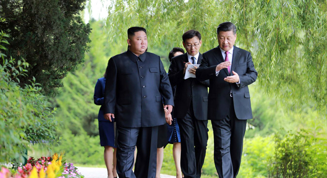 """Kim, Xi reached important """"consensus"""" on final day of Pyongyang summit: KCNA"""