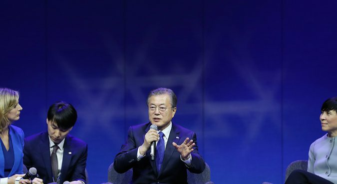 """""""Substantially"""" demonstrate commitment to denuclearization, Moon urges North Korea"""