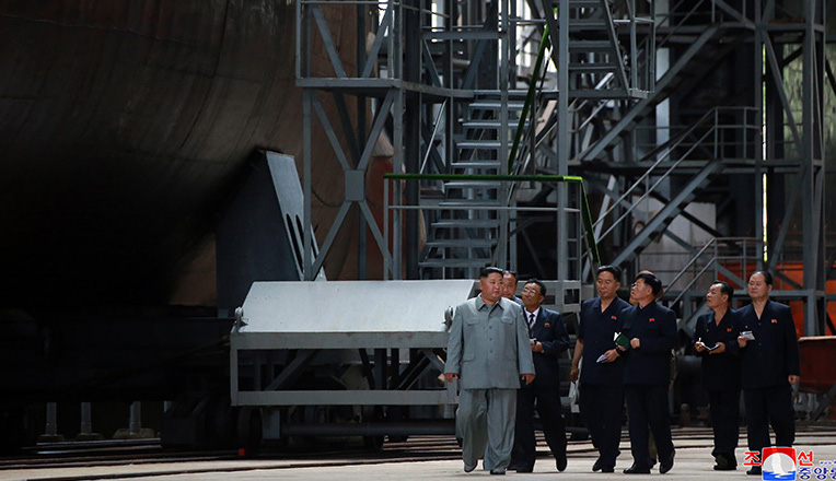 What to make of North Korea's 'new-built' submarine inspection