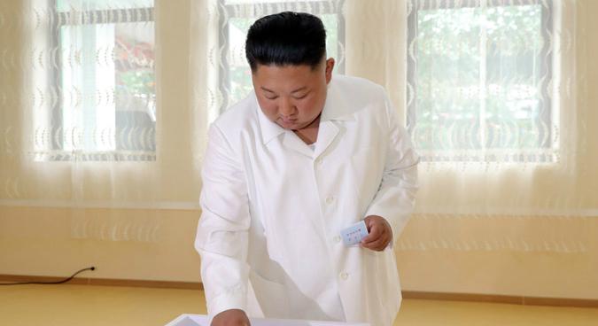 Leader Kim Jong Un votes in North Korean local elections