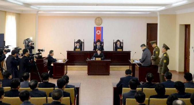 Delegation of North Korea's Central Court visiting China, KCNA reports