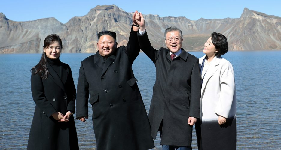 """Inter-Korean """"peace economy"""" could help South weather dispute with Japan: Moon"""