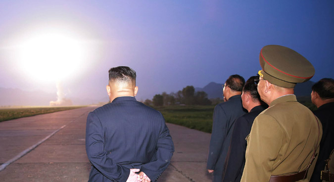 """Tuesday missile test a """"warning"""" amid ongoing ROK-U.S. drills, Kim Jong Un says"""