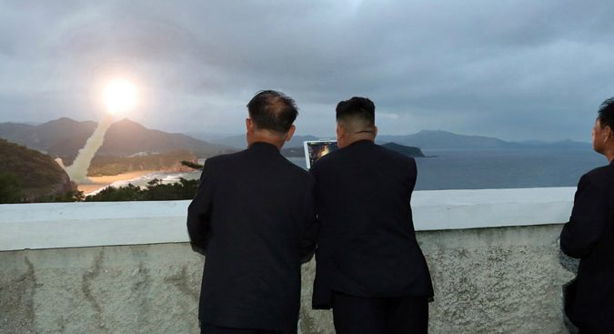 "Kim Jong Un guided test-fire of new ""superior tactical"" weapon on Saturday: KCNA"
