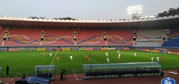 Historic inter-Korean World Cup qualifier in Pyongyang ends in draw