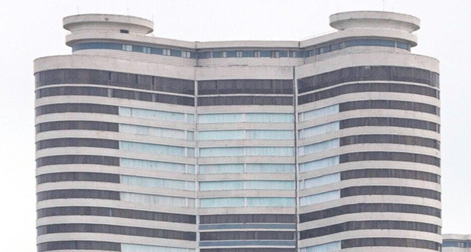 Pyongyang authorities block windows of hundreds of high-rise apartments