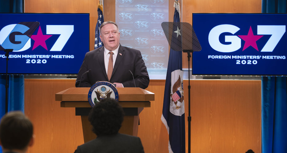 Stay firm on North Korea 'pressure' campaign, Pompeo urges G7 foreign ministers
