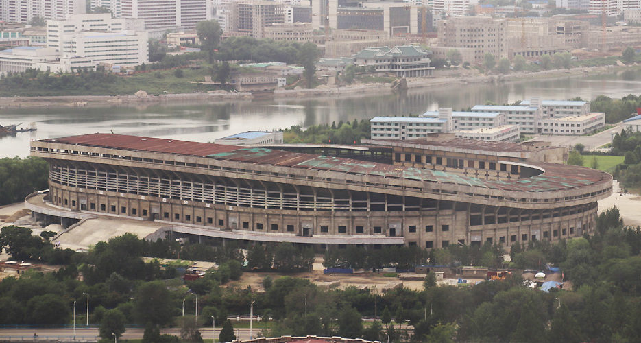 Yanggakdo football stadium undergoing major refurbishment, recent imagery shows