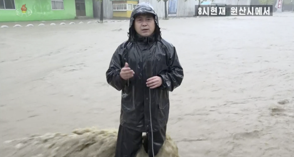 North Korea's east coast hit with damaging typhoon and floods, state TV shows