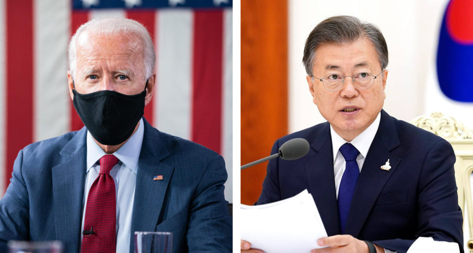 Biden and Moon promise to work closely on North Korean denuclearization