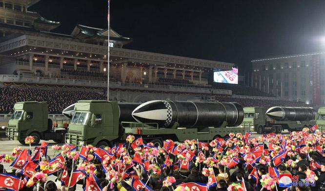 'World's strongest weapon': North Korea touts new missile at military parade