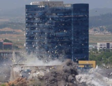 South Korea demands North Korea pay for blown-up diplomatic building