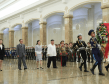 Kim Jong Un resumes traditional holiday visit to grandfather's embalmed body