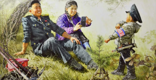 Toy guns and puppies: The latest art by North Korea's famed Mansudae Studio