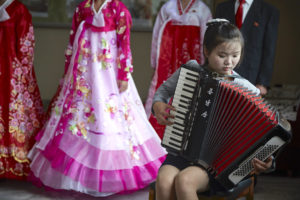 In North Korea, the accordion plays the soundtrack of the state