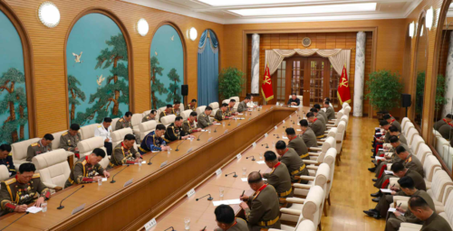 Kim Jong Un stresses national defense in meeting with top military officials