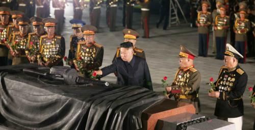 Kim Jong Un reappears after two-week break, visits cemetery on war anniversary