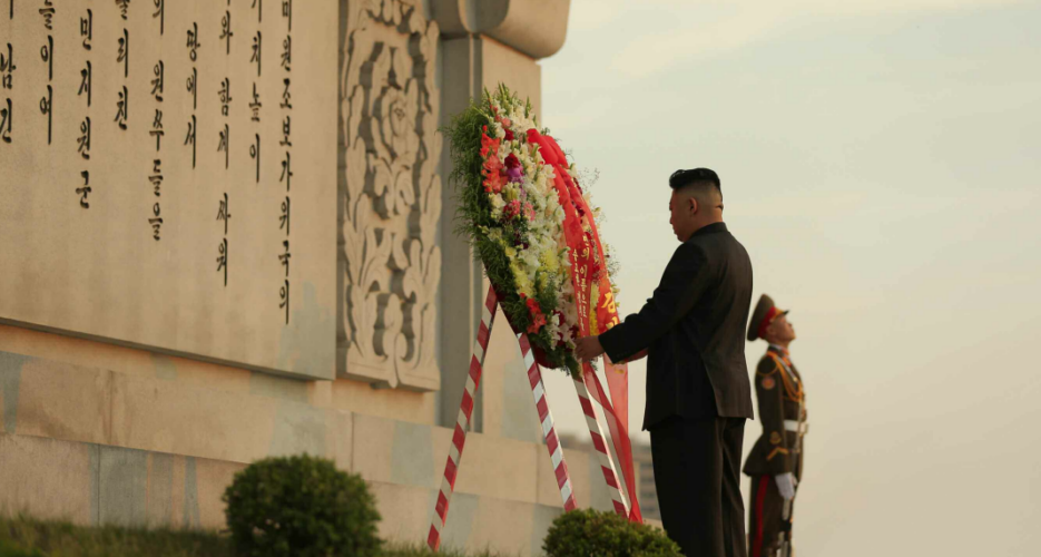 Kim Jong Un makes rare visit to Chinese friendship monument on war anniversary