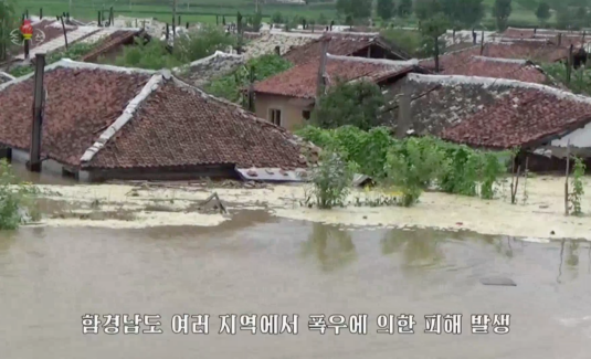 Over 1,000 homes destroyed from flooding this week, North Korean media says