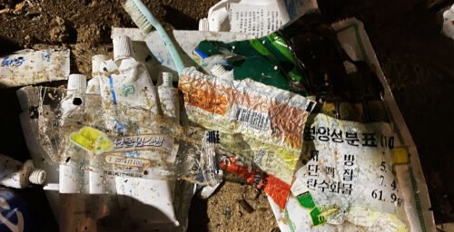 Photos: Toothpaste, candies and an IV — North Korean trash washes up in South Korea