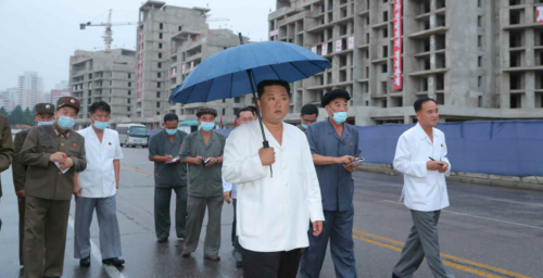 Kim Jong Un visits construction site for new luxury apartments in Pyongyang