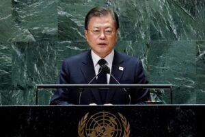 Moon Jae-in again calls for formal end to Korean War in speech at UN