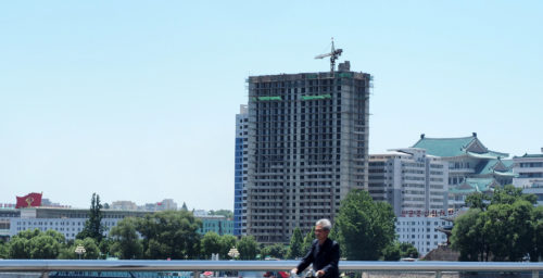 Photos reveal ongoing work on residential high-rise project near Kim Il Sung Square