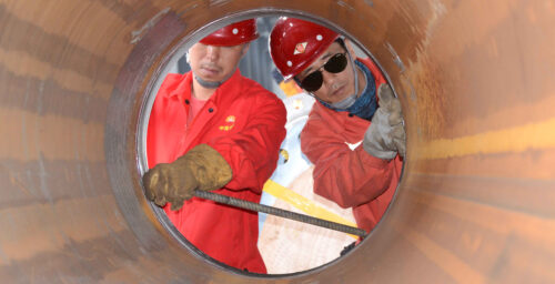 North Korea and China carry out cross-border construction at oil pipeline